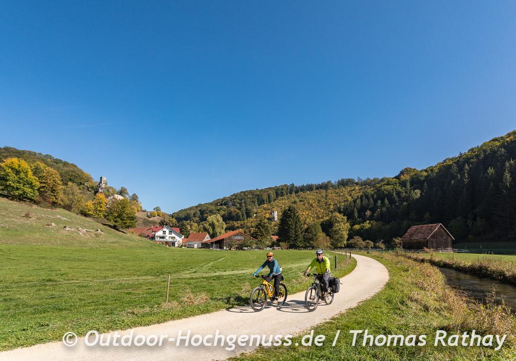 Unterwegs im großen Lautertal auf der Berg Bier-Radtour.