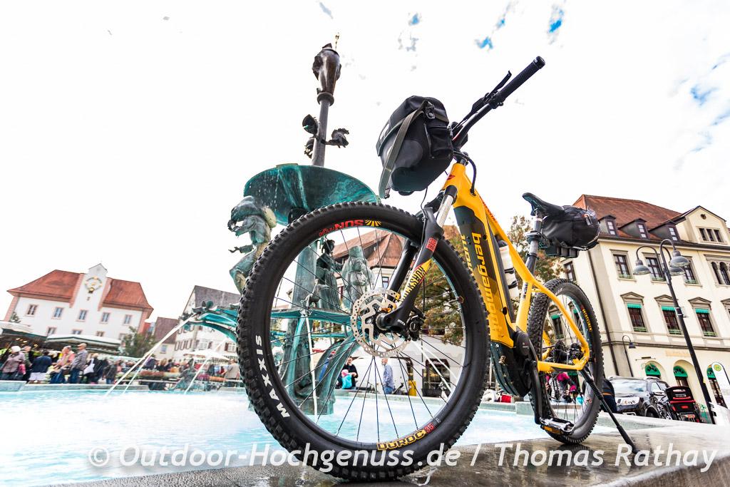 E-MTB - Bikepacking auf der Berg Bier-Radtour.