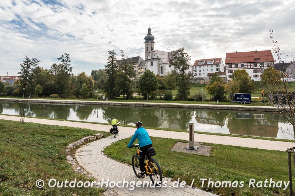 Kloster und Kirche in Ehingen auf der Berg Bier-Radtour