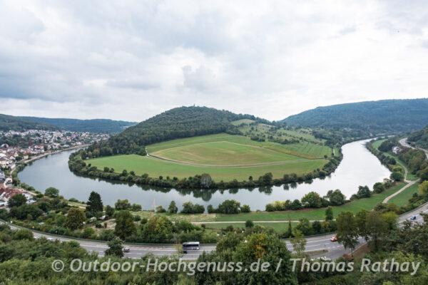 Neckarschleife rund um den Dilsberg - Neckarsteig