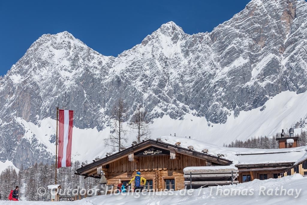 Schneeschuhtour im Ramsauer Almengebiet unterhalb des Dachsteingebirges