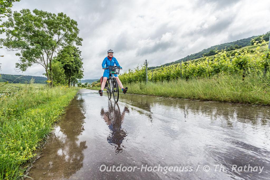 Radtour im Regen
