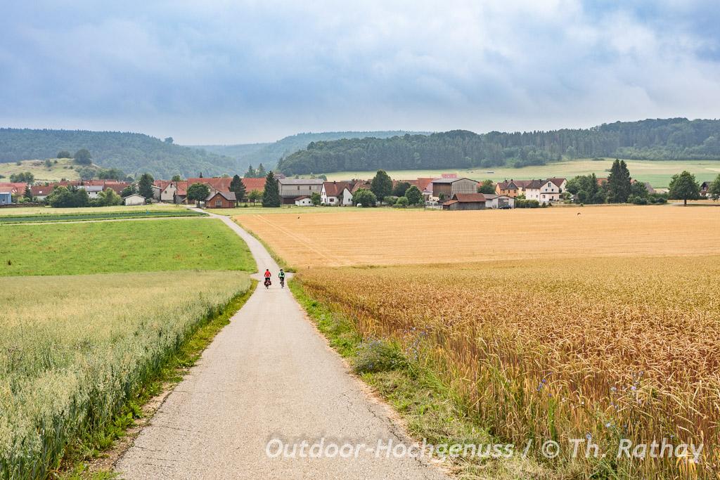 Geopark Ries Radweg von *Krater zu Krater* im Ferienland Donau-Ries.