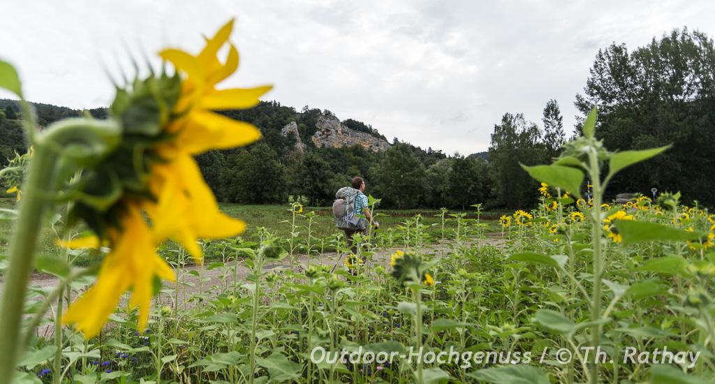 Wandern auf dem Donau Bergland Weg im Naturpark Obere Donau