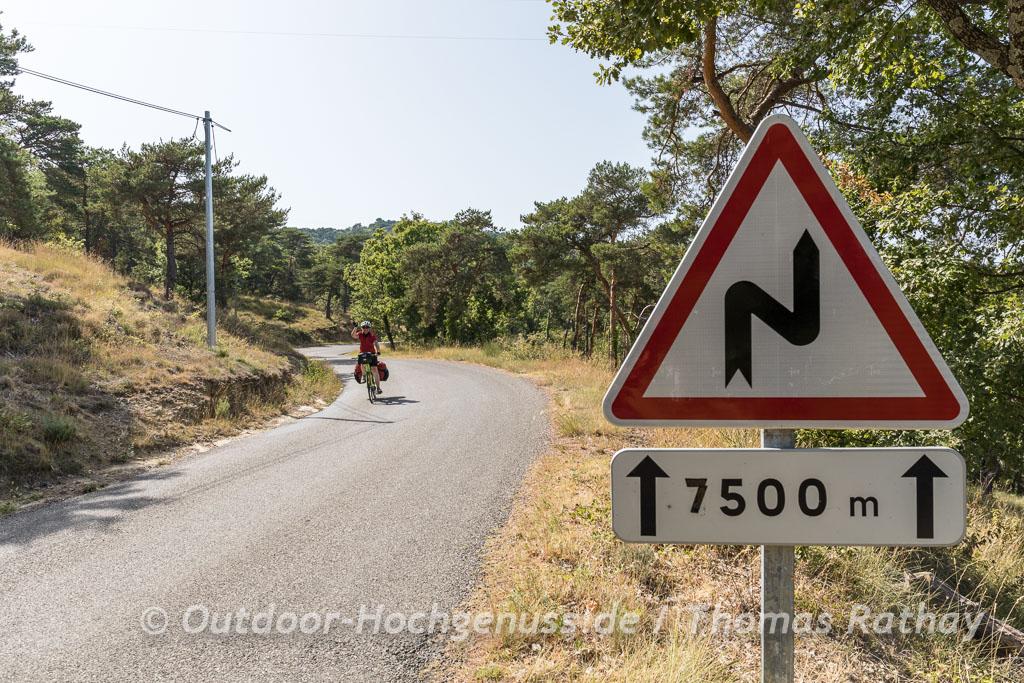 Kleine Landstrassen in Frankreich
