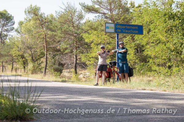 Autour du Luberon - Fahrradtour rund um den Luberon.