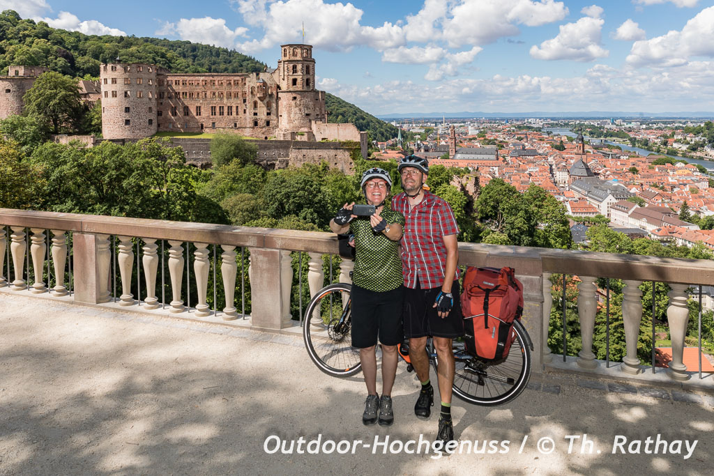 Heidelberg von Oben, Badischer Weinradweg