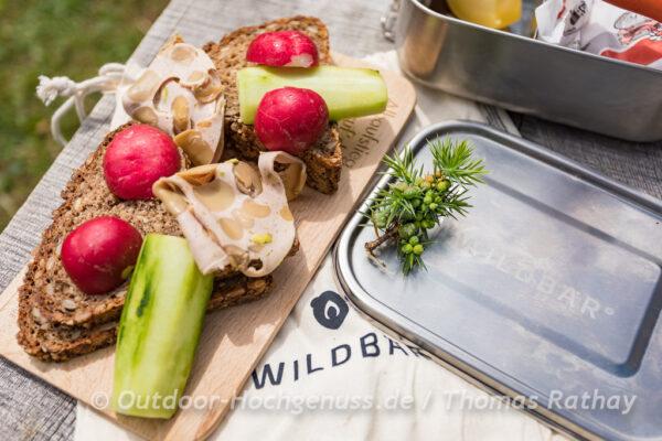 Wildbär Brotdose im Einsatz
