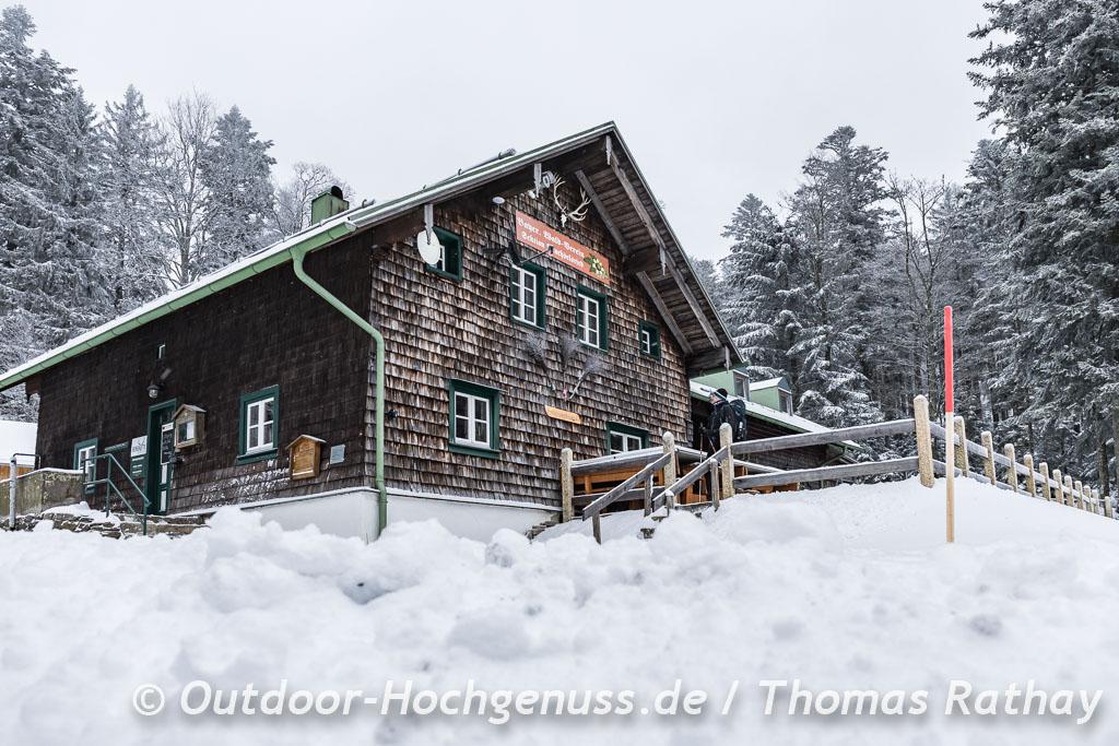Berghütte Schareben im Schnee