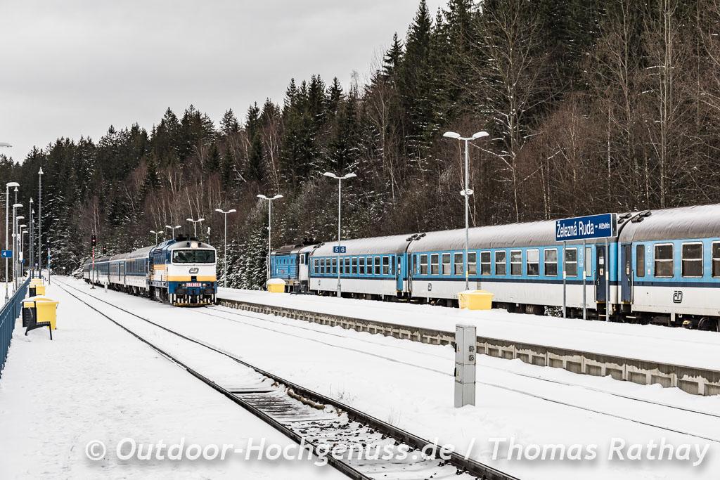ŽELEZNÁ RUDA der tschechische Bahnhof von Bayerisch Eisenstein