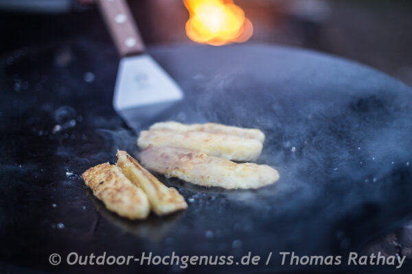 Barnimer Bauernspitzle mit Sauerkraut auf der Fireplate - Feuerplatte