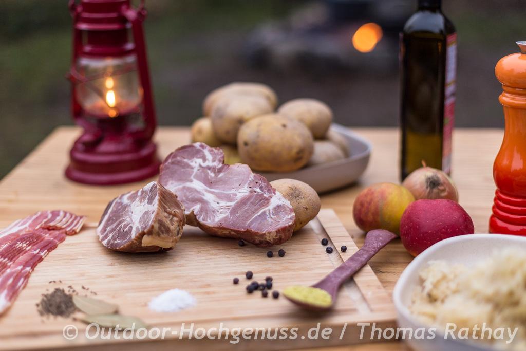Sauerkrautauflauf mit Kasseler im Dopf - Dutchoven