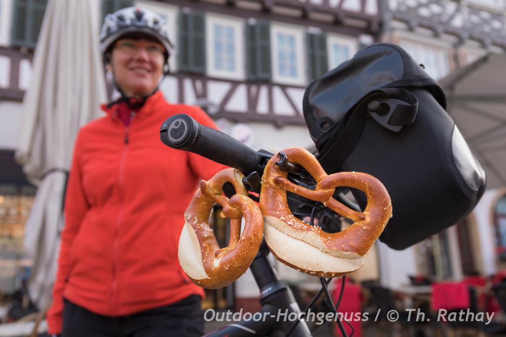 Brezeln am Fahrrad