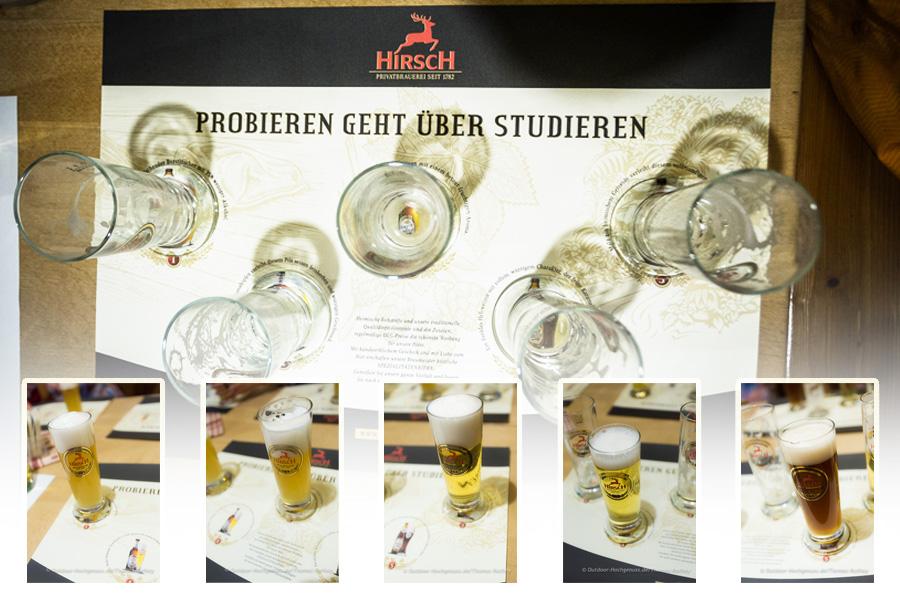Bierprobe in der Hirsch- Brauerei.