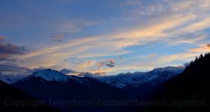 Ein schöner Tag geht zur Neige über dem Passeier Tal...