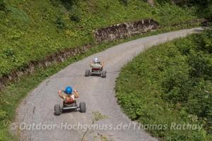 Funsport Mountaincart im *Bikepark Brandnertal*