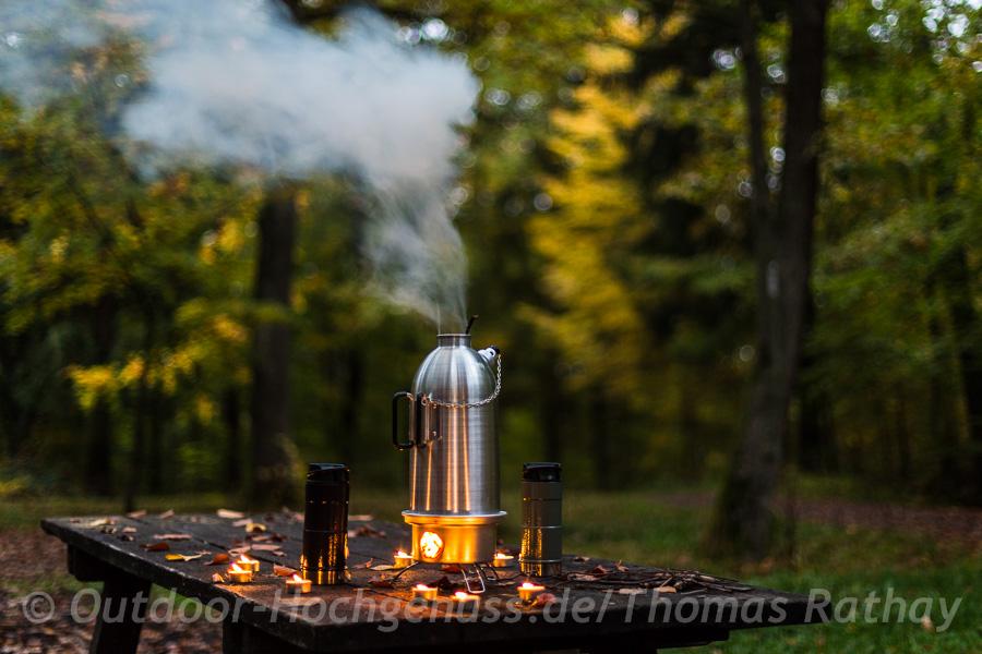 Feuerkanne FK2 von *Petromax* im Einsatz