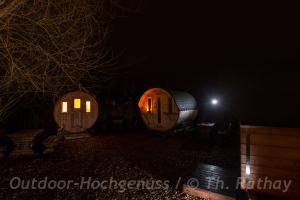Übernachten im Gurkenfass im Spreewald