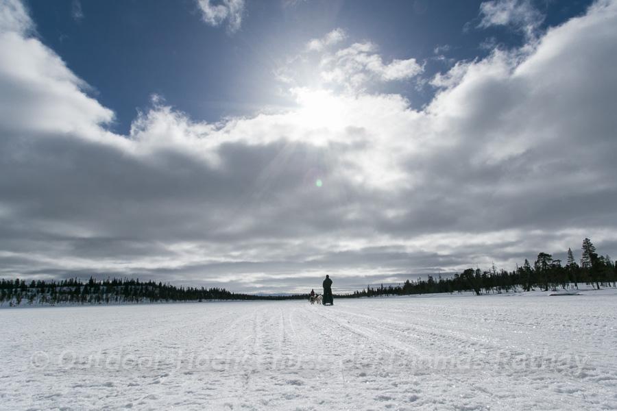 Im Hundeschlitten über den gefrorenen See