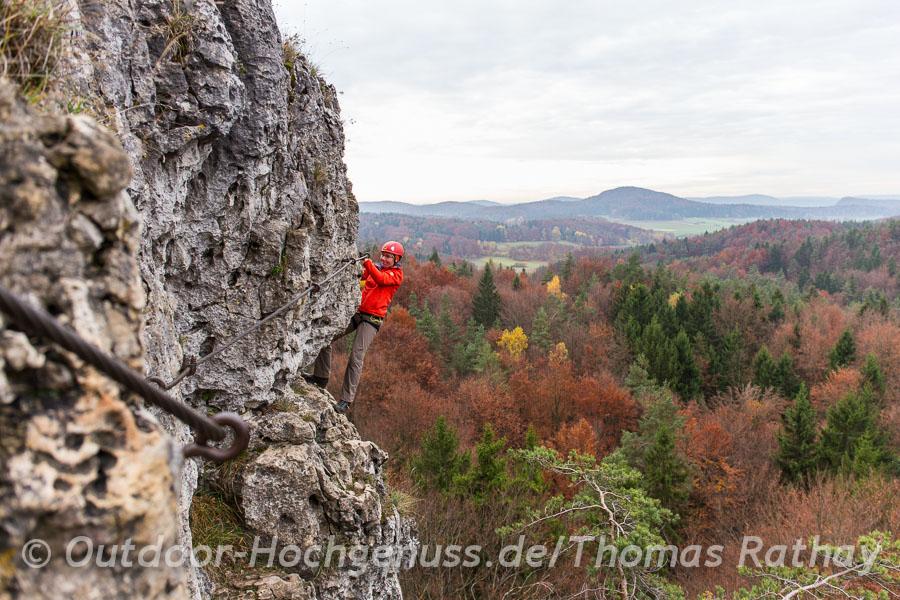 Klettersteig auf der Frankenalb