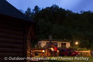 Übernachten in der Kota in Echternach