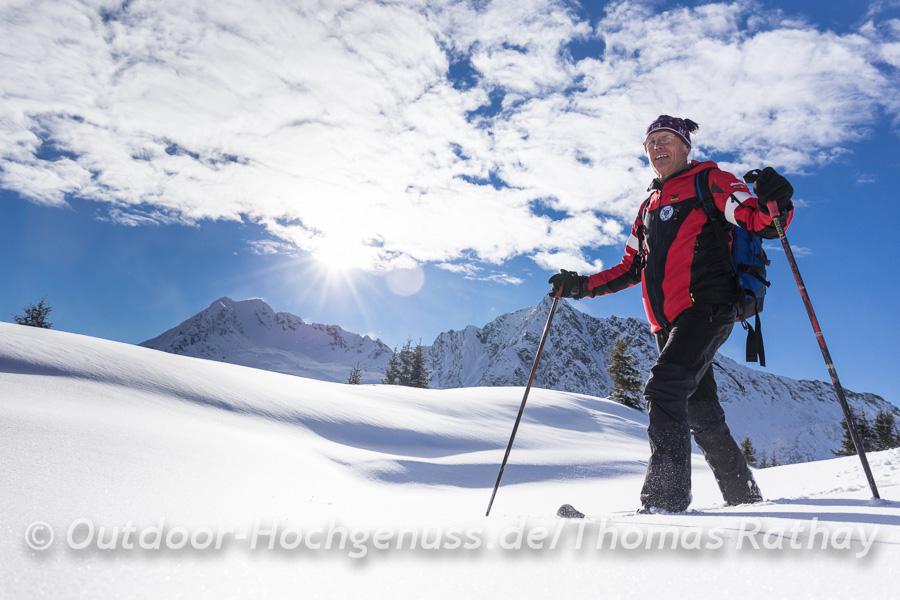 Schneeschuhtour am Platschjoch