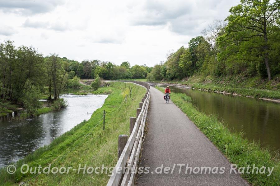 Der Radweg verbindet Saarbrücken und Sarreguemines