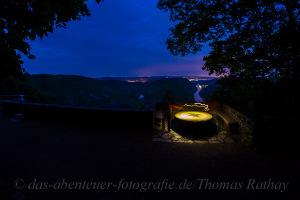 Rathay-Saarschleife-Nacht-Lightbrush