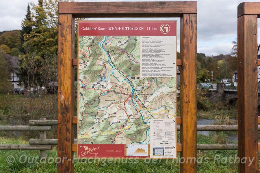 Wandern auf der Golddorf Route Wenholthausen.