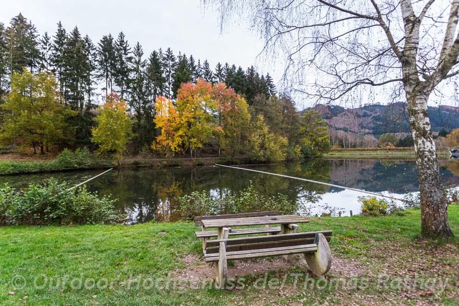 Herbstfarben am Stausee Esmecke