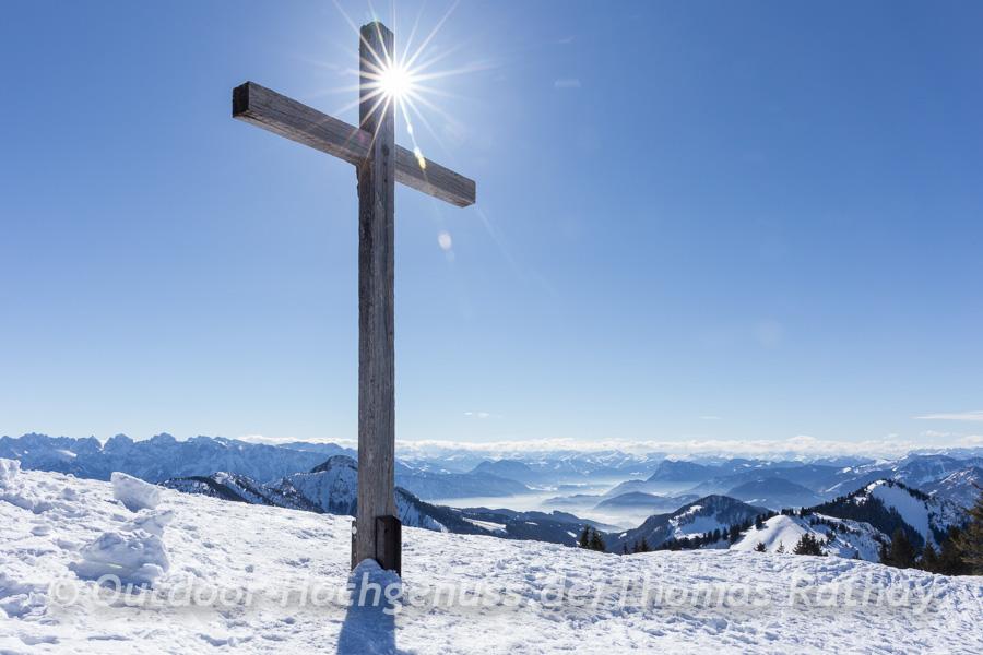 Gipfelkreuz auf dem Hochries.