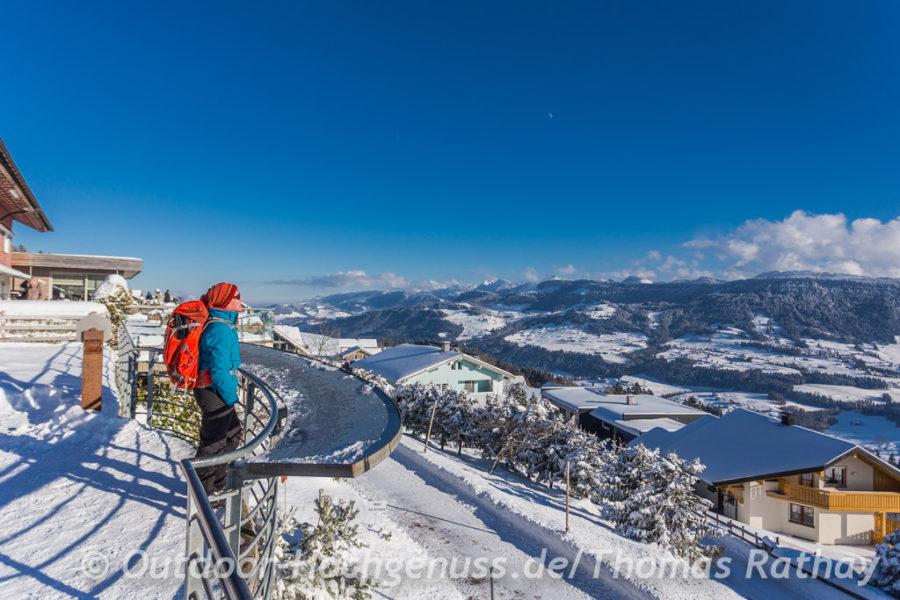 Schneeschuh-Spaß im Allgäu und in Vorarlberg