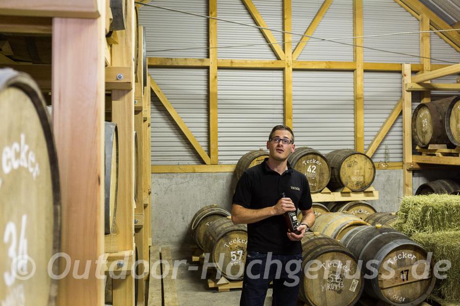 Immanuel Gruel der jüngste Whisky Macher im Owener-Bund.