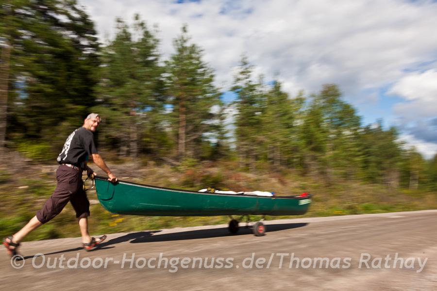 Mit dem Bootswagen machen Umtragen richtig Spaß!