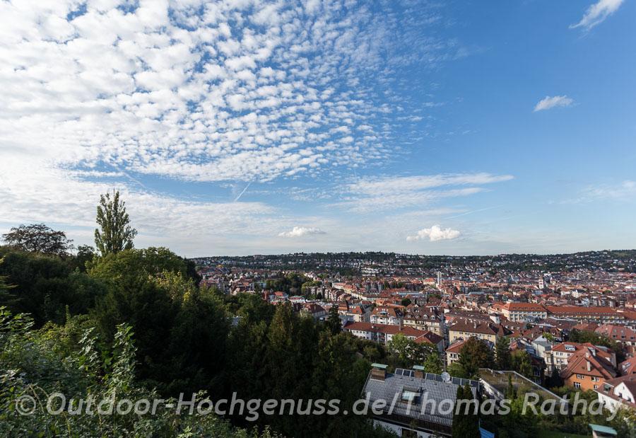 Aussichtspunkt vom Trinkwasserbehälter auf den Stuttgarter Westen