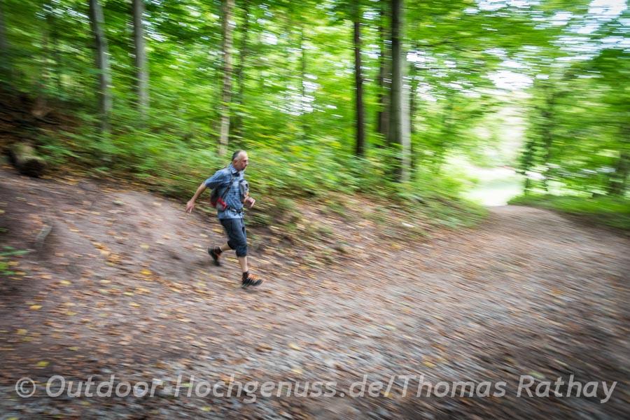 Im Wald an der Heslacher Wand.