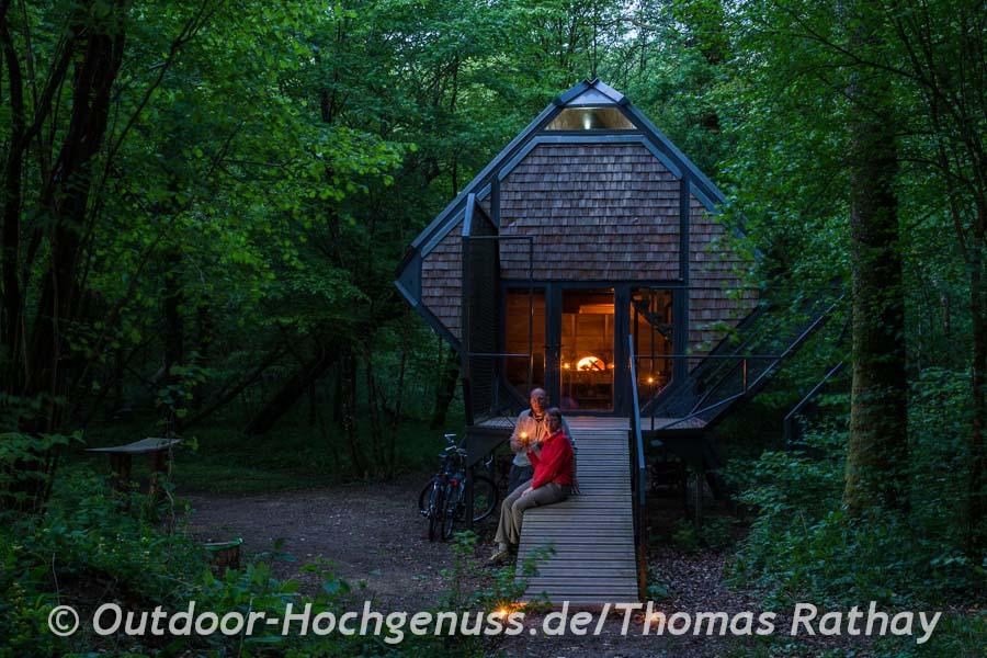 Übernachten im Waldhaus im Vents de forets