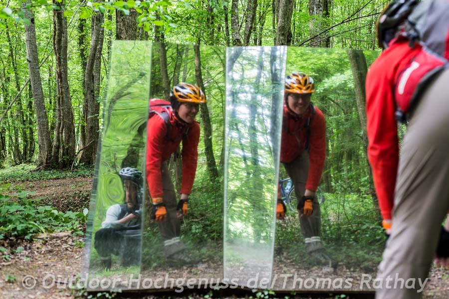 Radfahren und Kunst im Vent des Forêts