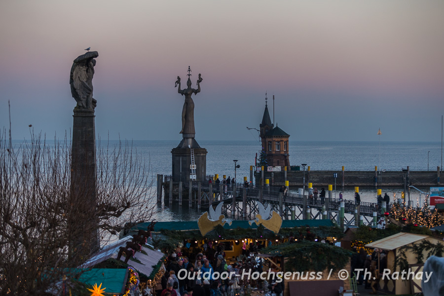 Imperia, Bodensee, Konstanz, Winter