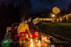 Winterliche Kaminkahnfahrt im Spreewald