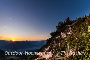 Sonnenaufgangswanderung zur Mondspitze im Brandertal, Österreich